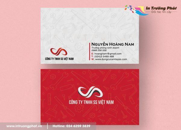 Card visit Công ty TNHH SS Việt Nam