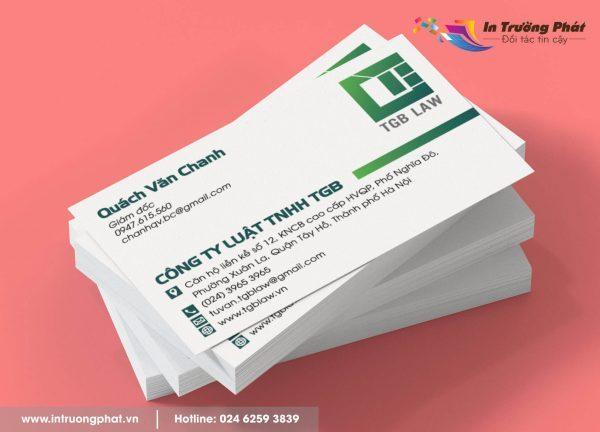 Card visit Công ty Luật TNHH TGB