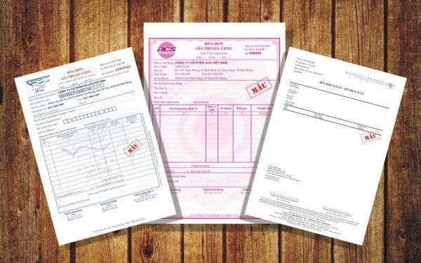 In hóa đơn cho công ty, doanh nghiệp.