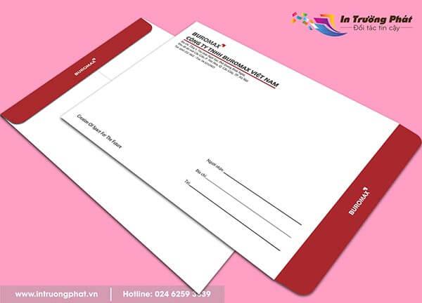 Phong bì công ty TNHH Buromax