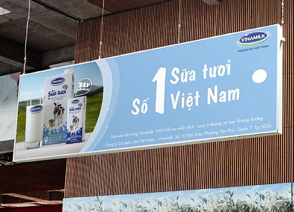 Banner sữa tươi Vinamilk Việt Nam