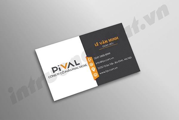 Danh thiếp Công ty Cổ phần Pival Media