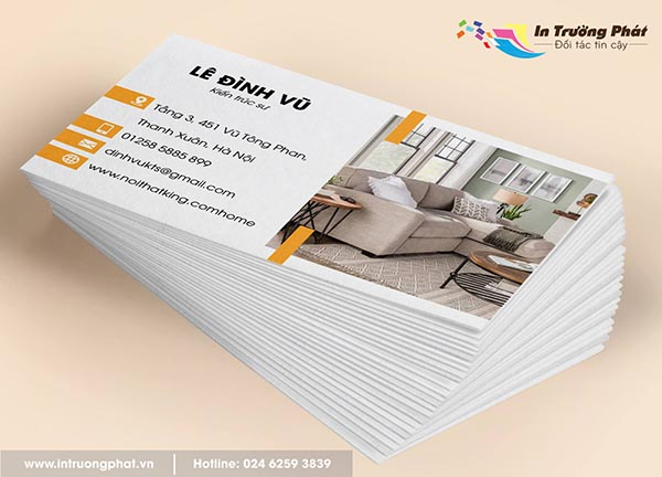Card visit Kiến trúc sư Lê Đình Vũ