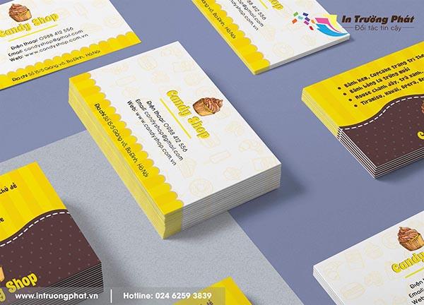 Card visit Tiệm bánh ngọt