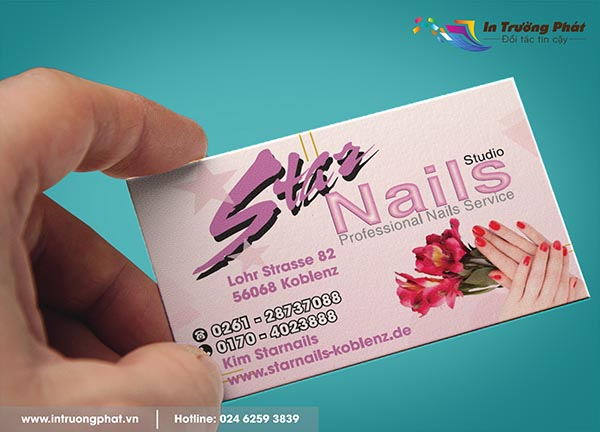Card visit cho tiệm nails