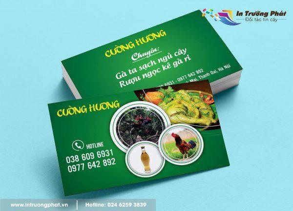 Card visit Cường Hương chuyên gà sạch