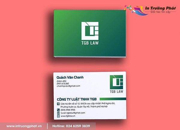 Name card Công ty Luật TNHH TGB