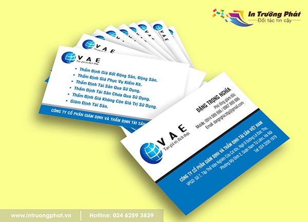 Name card Công ty Cổ phần giám định và thẩm định tài sản Việt Nam