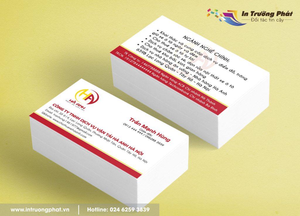 Địa chỉ in name card chất lượng.