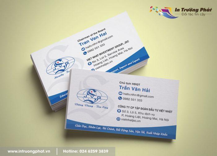 Miễn phí thiết kế khi in card visit cho mọi khách hàng.