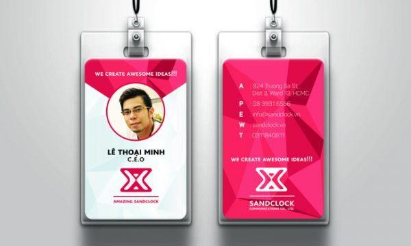Mẫu thẻ nhựa nhân viên PVC 4 lớp