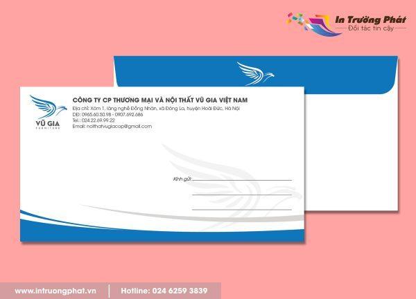 Phong bì thư Công ty CP Thương mại và nội thất Vũ Gia Việt Nam