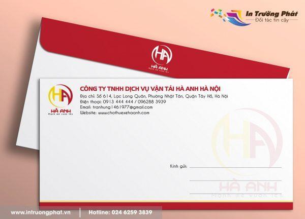 Phong bì thư Công ty TNHH Dịch vụ vận tải Hà Anh Hà Nội