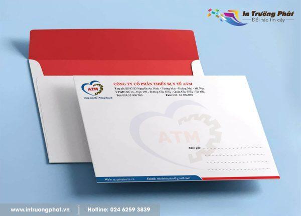 Phong bì thư Công ty Cổ phần thiết bị y tế ATM
