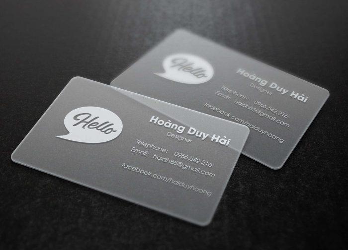 In thẻ nhựa trong với độ bền kết cấu 4 lớp