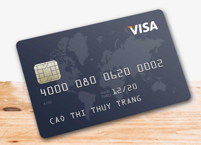Thẻ nhựa tích hợp visa