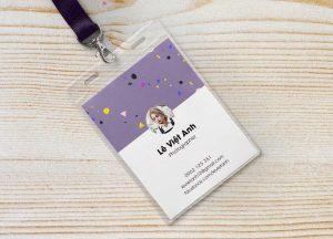 Thiết kế, in mẫu thẻ nhựa nhân viên cho doanh nhiệp