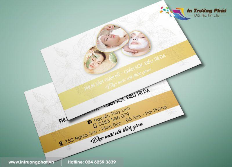 Card visit Phun xăm thẩm mỹ và chăm sóc điều trị da