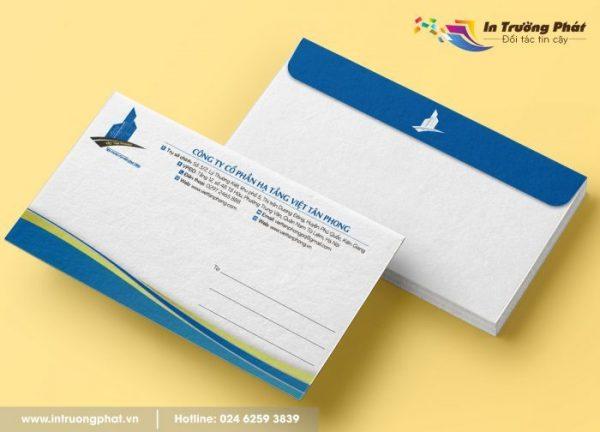 Dịch vụ thiết kế, in phong bì thư chất lượng tại Trường Phát.