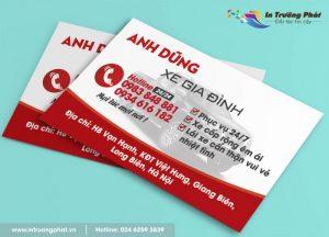 In card visit 2 mặt chất lượng tại Hà Nội