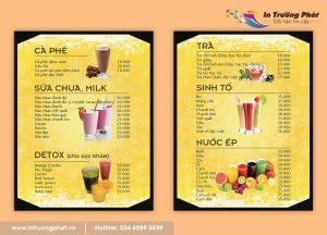 Trường Phát – In menu chuyên nghiệp cho nhà hàng, khách sạn